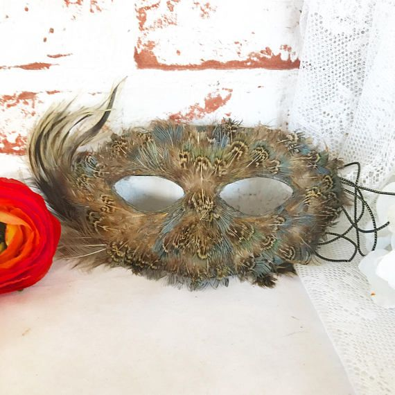 Feathered Masquerade Mask feathers Mardi Gras Halloween Costume - sexy halloween decorations