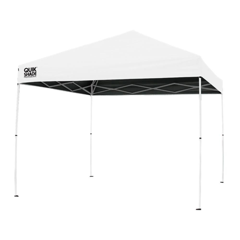 Quik Shade P100 Professional 10 Ft X 10 Ft White Canopy 164449 At The Home Depot Mobile White Canopy Canopy Pop Up Tent