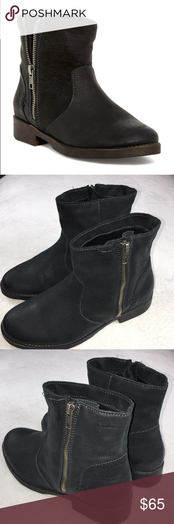 670933960 Coolway Side Zip Short Boots Black Leather Coolway Side Zip Short Boots in  Black. Size 37 6. Leather. Brand new without box. They have 1 seam issue  beside ...