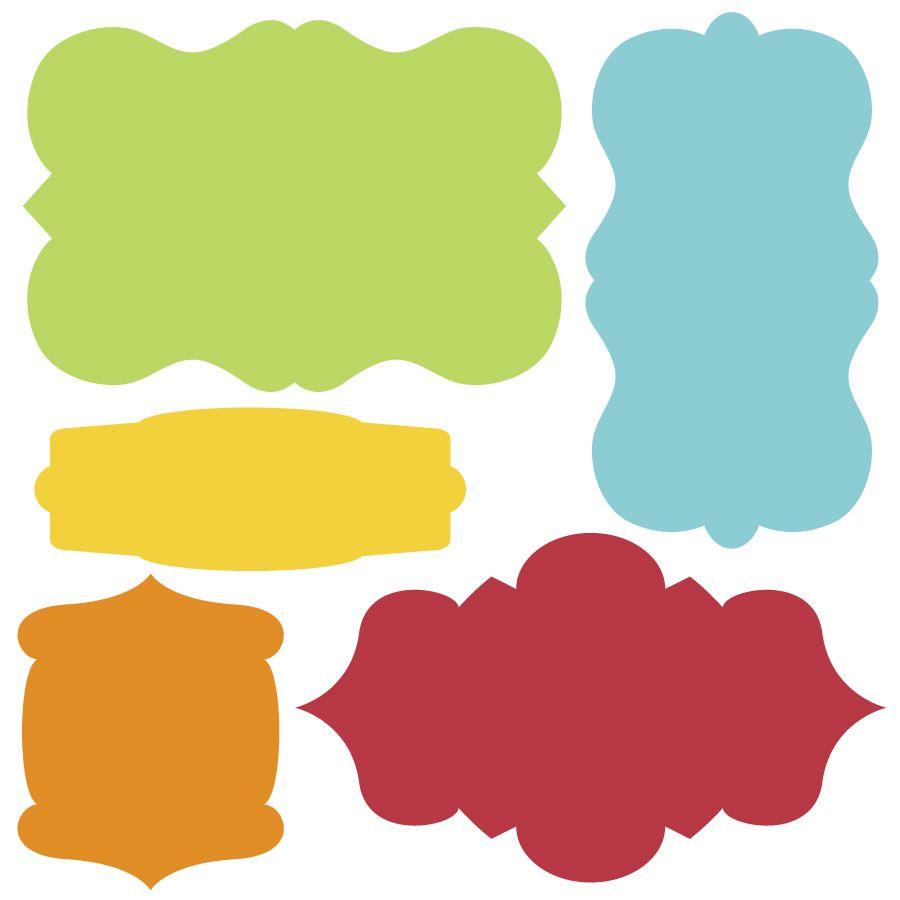 unique shape labels | bracket label template 5 bracket labels