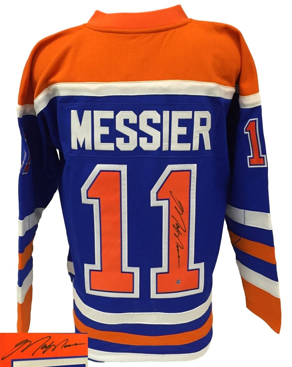 best website 58eb2 9dc1f Mark Messier Signed Edmonton Oilers Authentic Mitchell ...