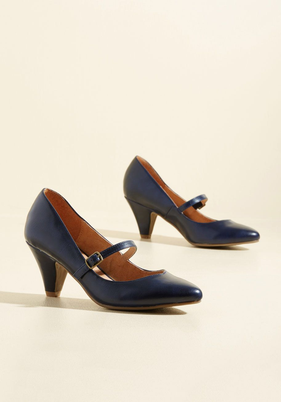 Reserved for Rollicking Heel in Navy, #ModCloth