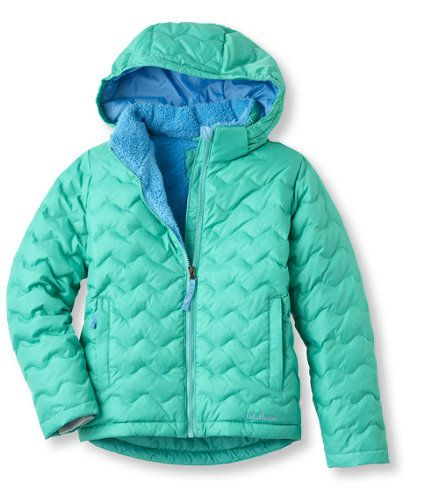 Kids' Girls' Bean's Fleece-Lined Down Jacket | Free Shipping at ...