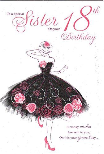 Sister Happy 18th Birthday To You Birthday Card