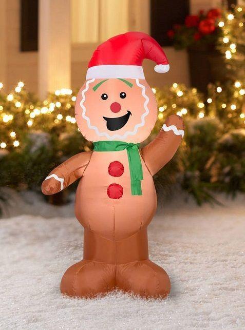 Gemmy Christmas Inflatables Airblown Inflatable Gingerbread Yard Decoration  4 ft #Gemmy - Gemmy Christmas Inflatables Airblown Inflatable Gingerbread Yard