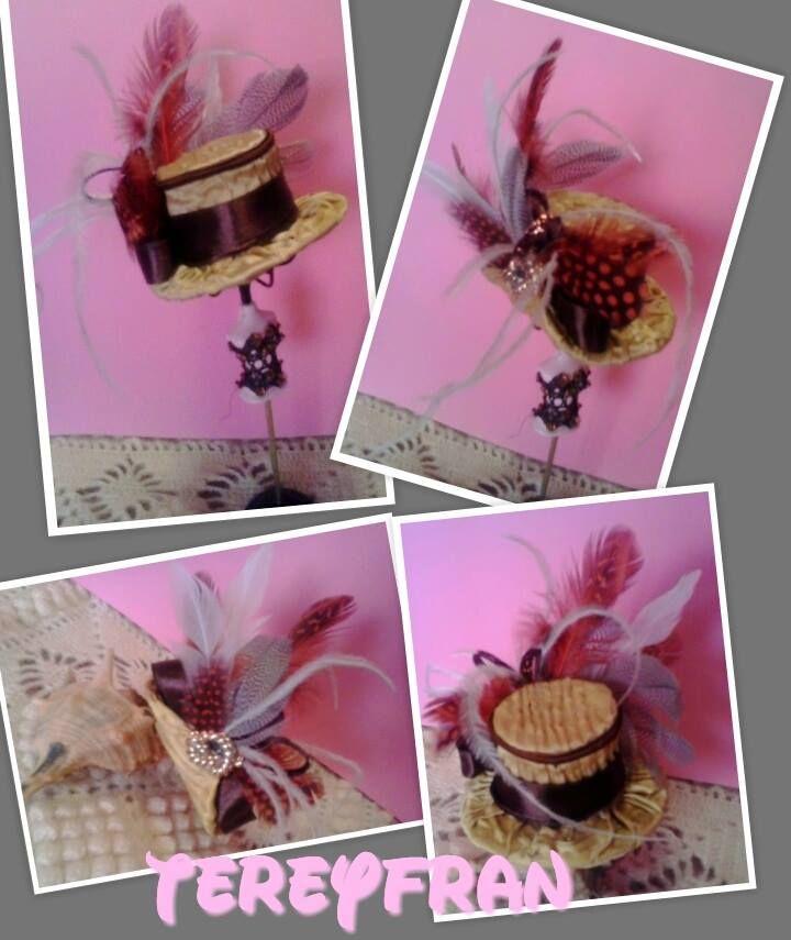 SOMBRERO MINIATURA Miniaturas, Sombreros de época, Sombreros