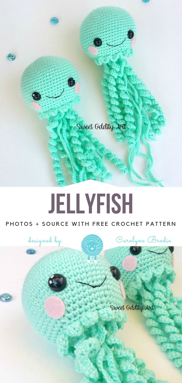 Jellyfish Free Crochet Pattern - Free Crochet Patterns #crochetamigurumifreepatterns