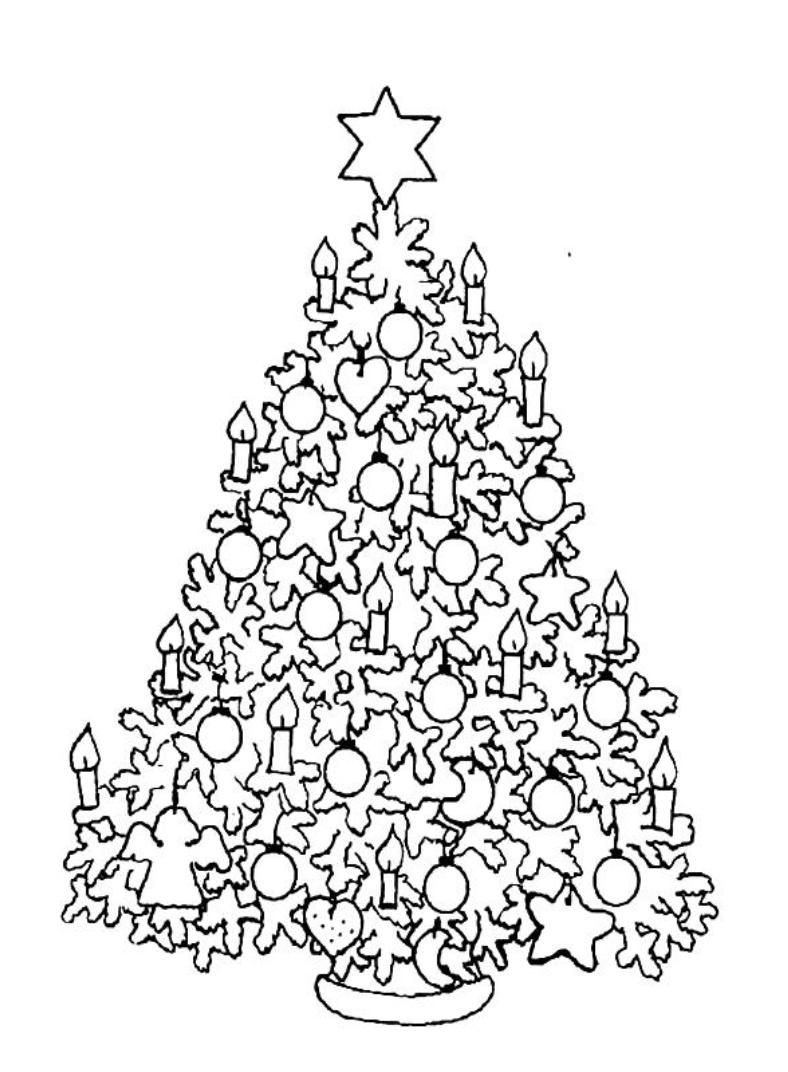 Print Hard Christmas Tree Coloring Pages Or Download Hard Christmas Tree Coloring Page Tree Coloring Page Christmas Coloring Pages