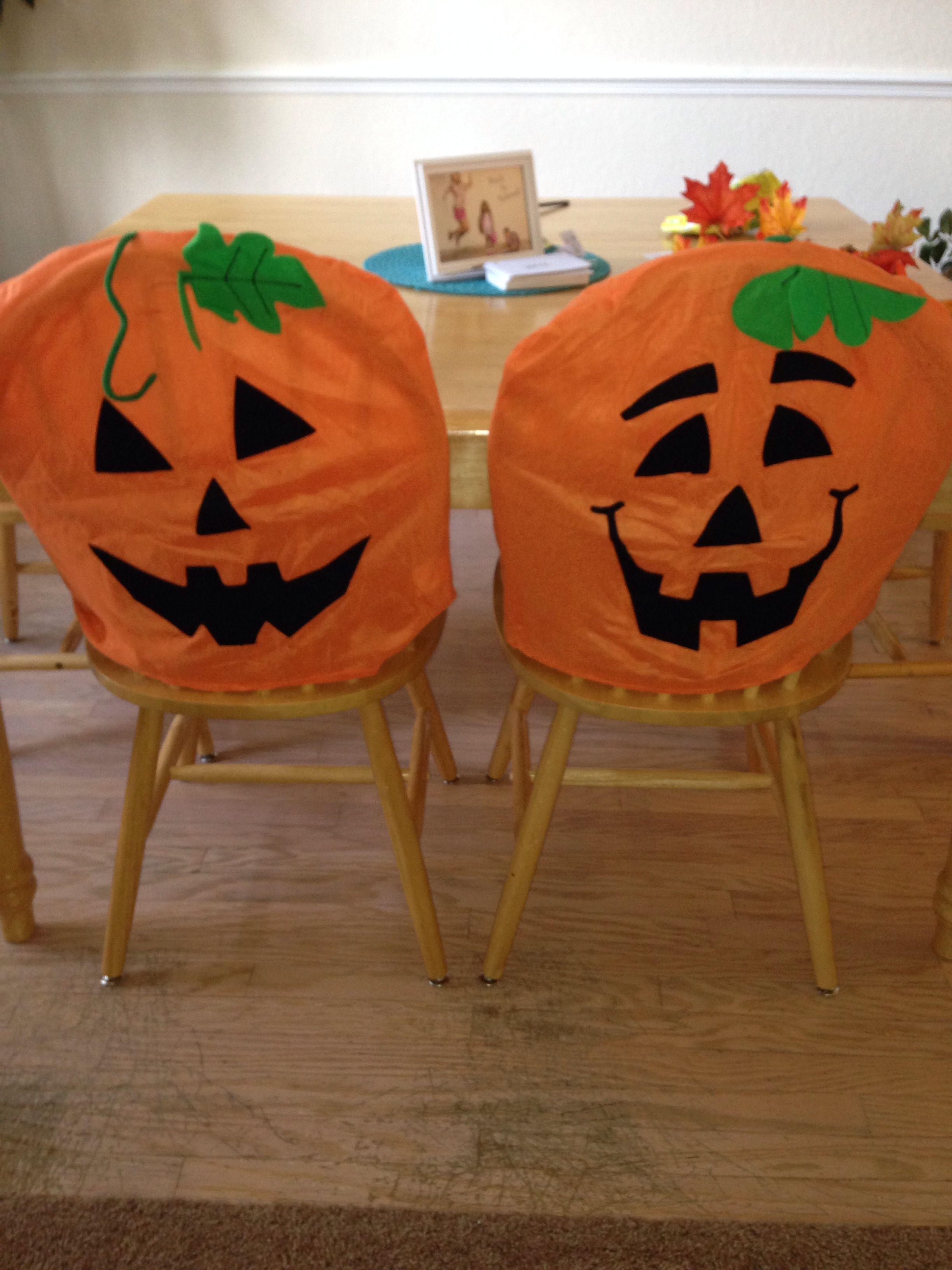 Genial Pumpkin Chair Covers