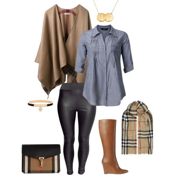 A fashion look from August 2014 featuring Burberry, H&M leggings and Ann Taylor boots. Browse and shop related looks.