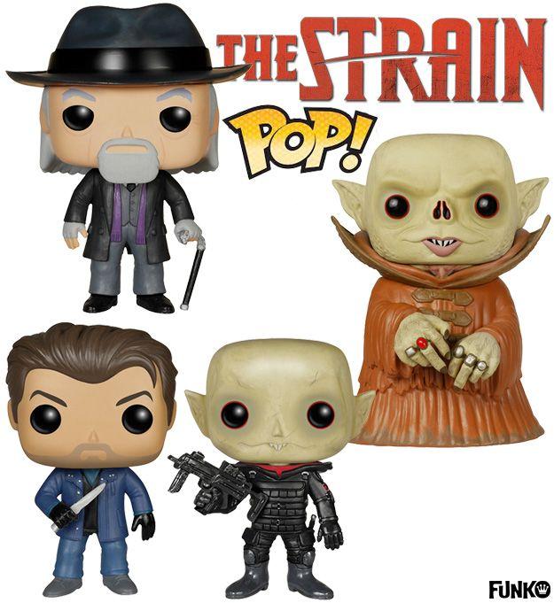 Bonecos Funko Pop! The Strain de Guillermo del Toro e Chuck Hogan