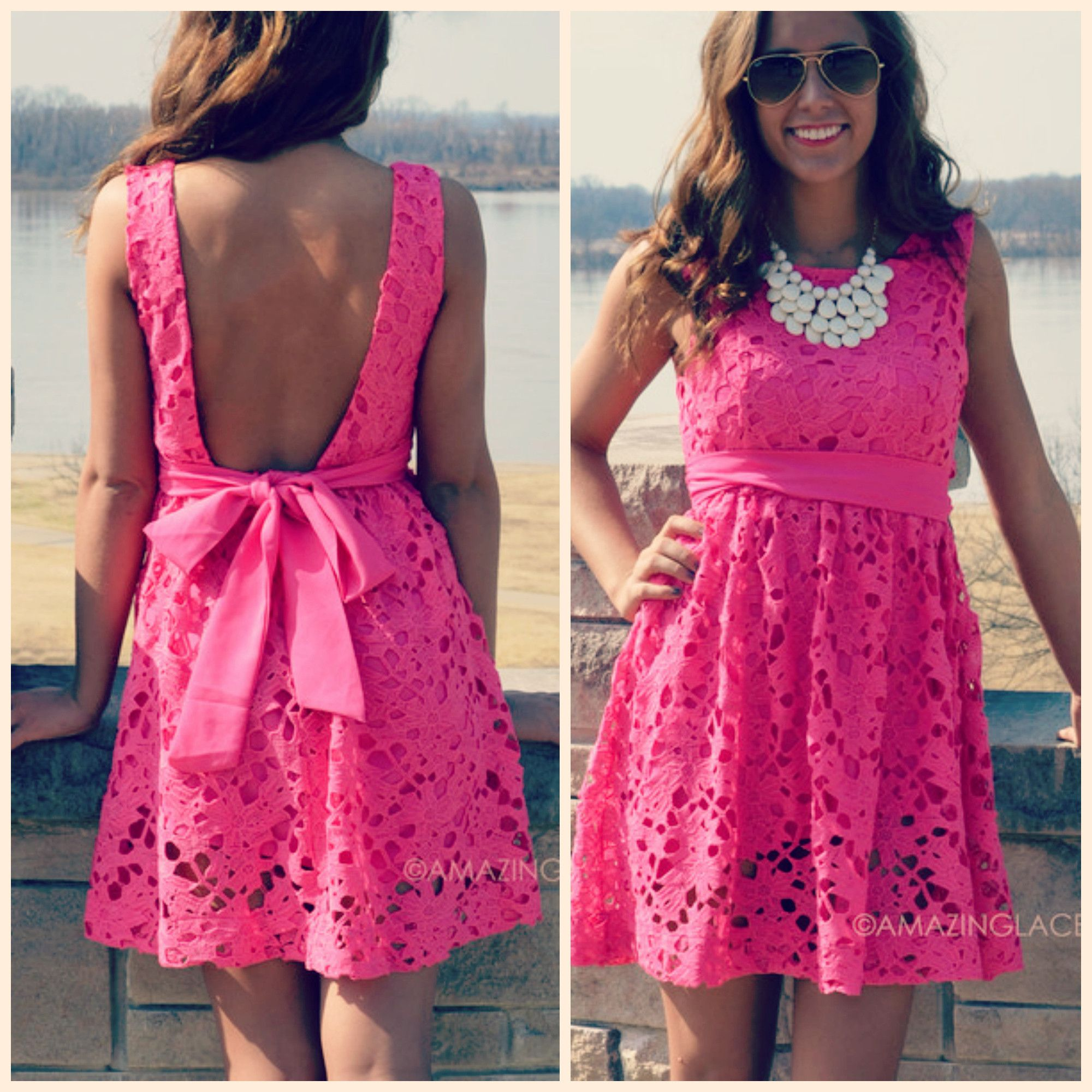 Carrendale Fuchsia Crochet Mini Dress | Products | Pinterest