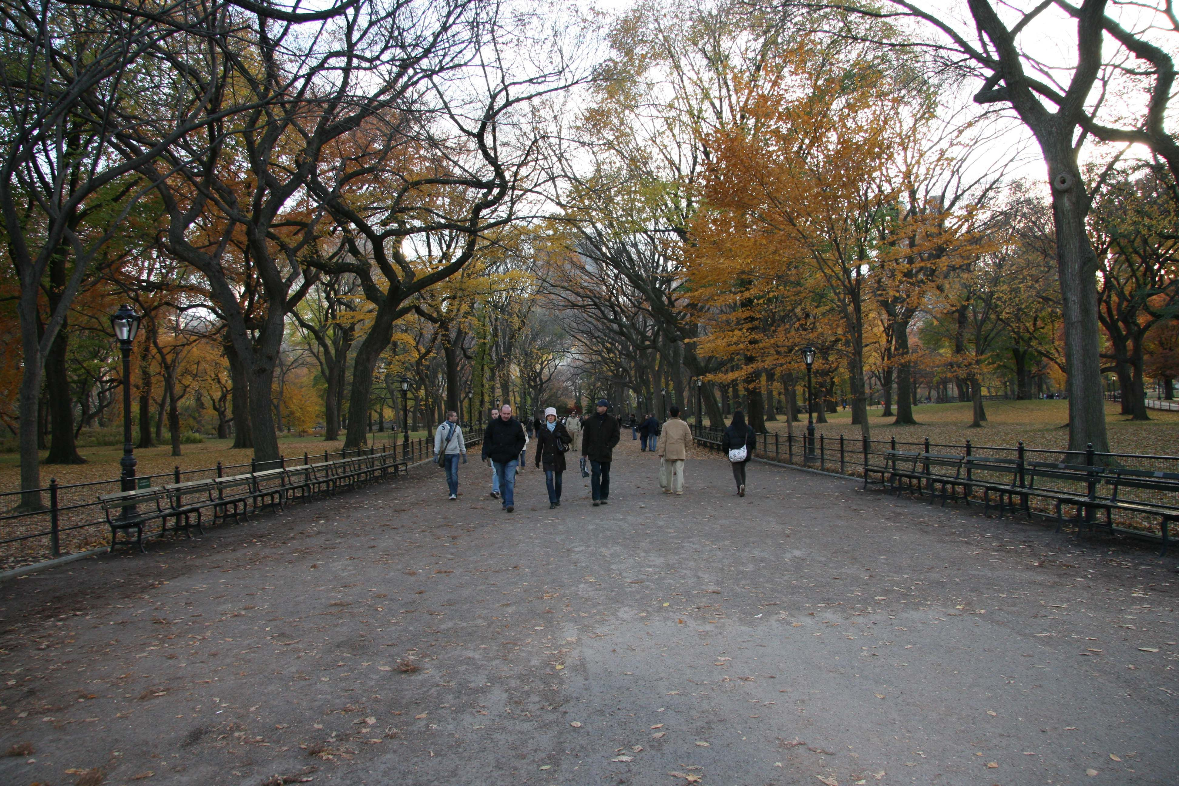 "Central park ""the mall"""