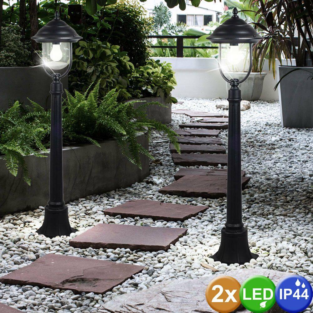 2's Set LED Extérieur Stand Lanternes Terrasses Candélabre