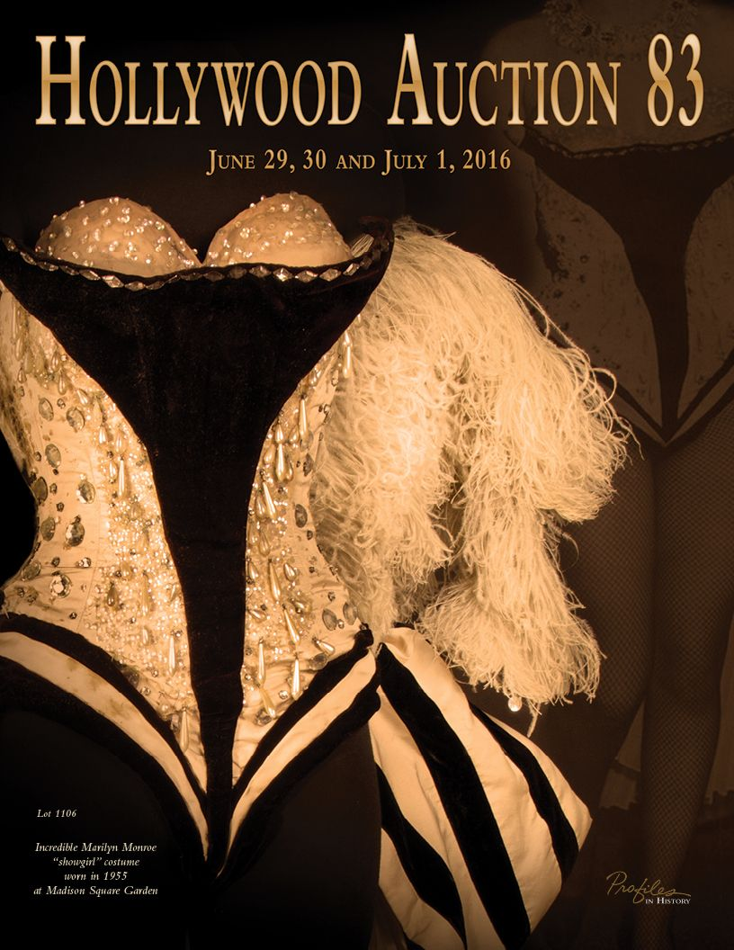 We have put forth great effort in gathering the finest items of their kind – spanning the silent era to modern film, as well as the costumes and props from the dawn of television up through the latest popular programs.  Among the offerings in this catalog are suites of memorabilia from the collection of Hollywood icon