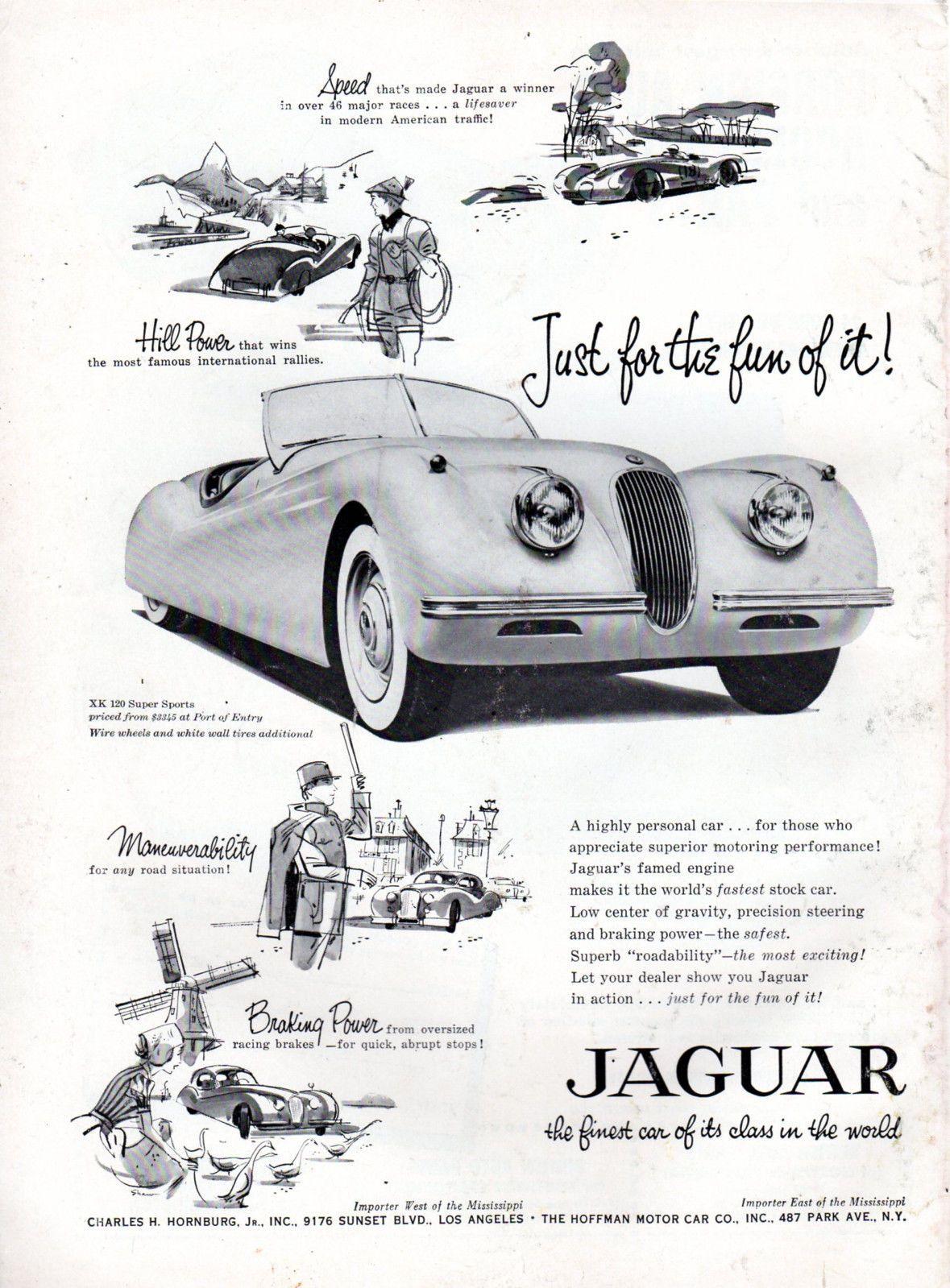 Vintage Original 1954 1955 Jaguar Xk 120 Magazine Advertisement 8
