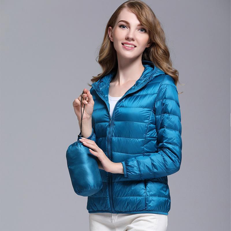 Helpful 2018 Female Long Sleeve Solid Portable Outwear Parka White Duck Down Hooded Jackets Winter Women Ultra Light Down Coat Jacket Women's Clothing Basic Jackets