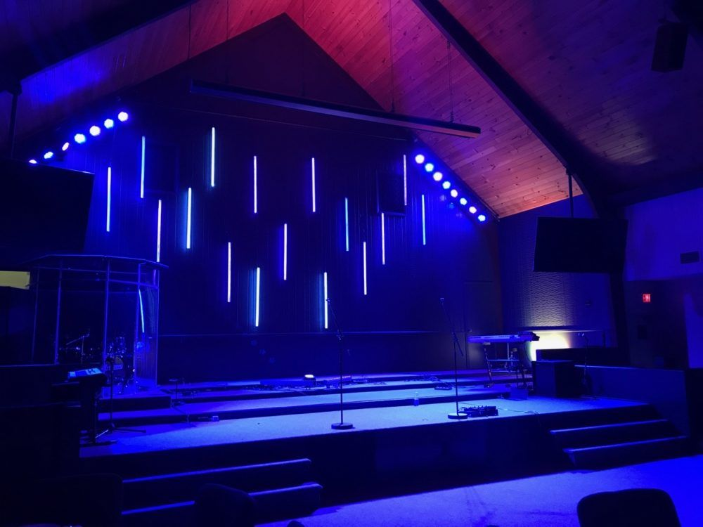 Tube Drop Church Stage Design Stage Lighting Design Stage Lighting