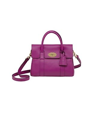 5380b6a8d82 Mulberry Small Bayswater Satchel Spongy Pebbled in Hot Fuschia ...
