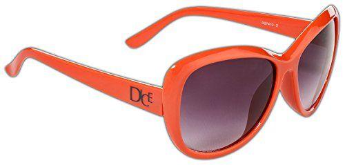 1d6264667b6f93 Dice Damen Sonnenbrille Orange One size D07410-2. 100% UV-Schutz ...