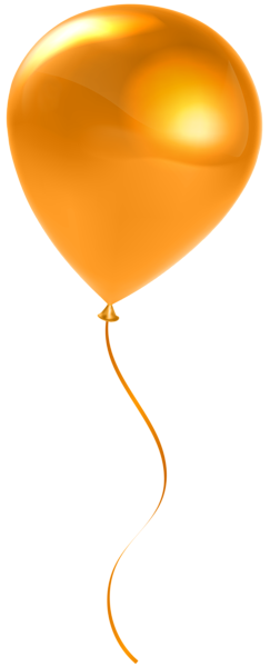 Balloons orange. Single balloon transparent clip