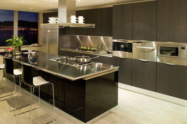 Mutfak Tezgahınızın Arka Kısmı İçin Paslanmaz Çelik Çözümü - modele de cuisine americaine