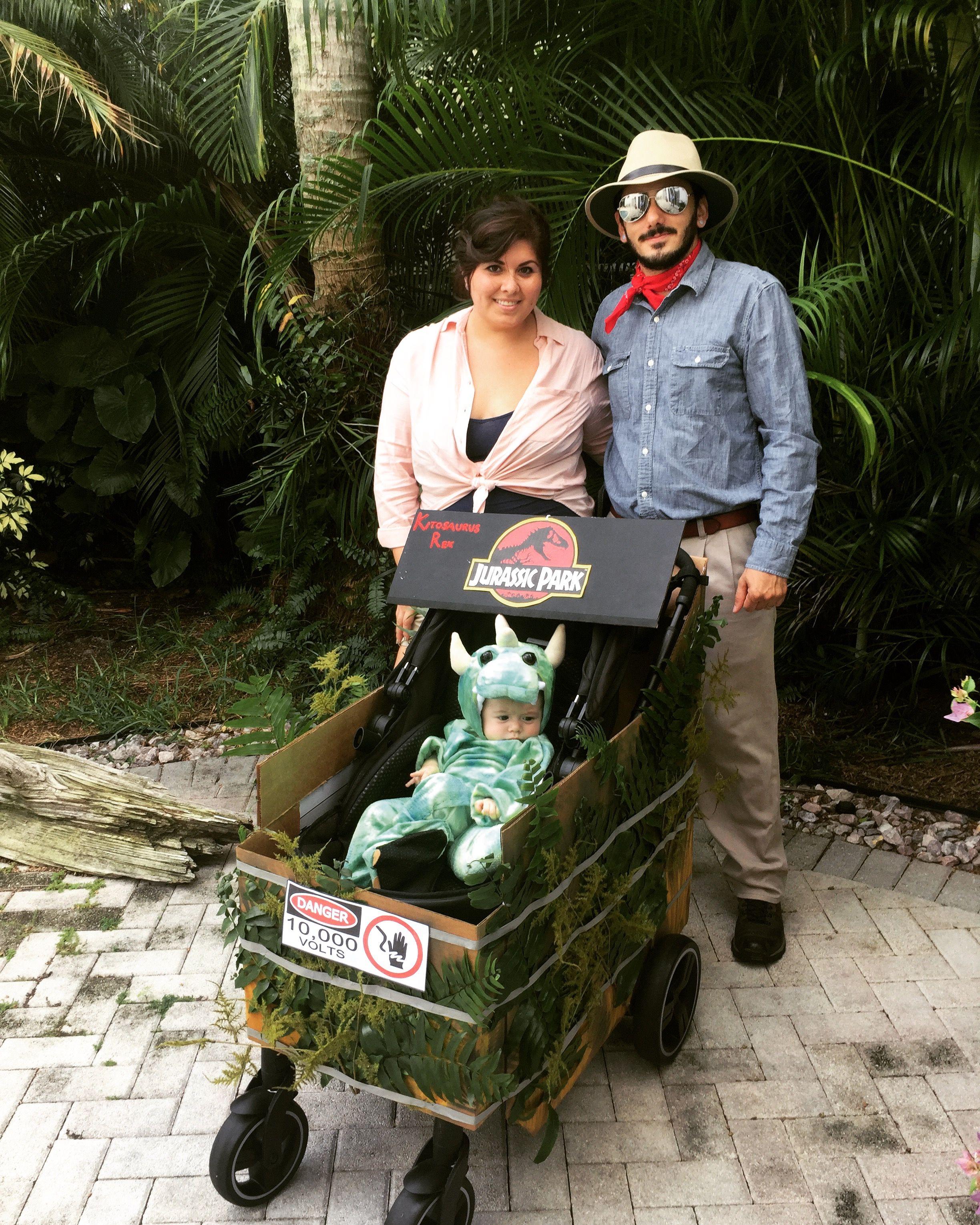 Jurassic park baby and stroller Halloween costume