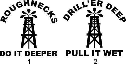 Roughneck oilfield stickers decals truck window new