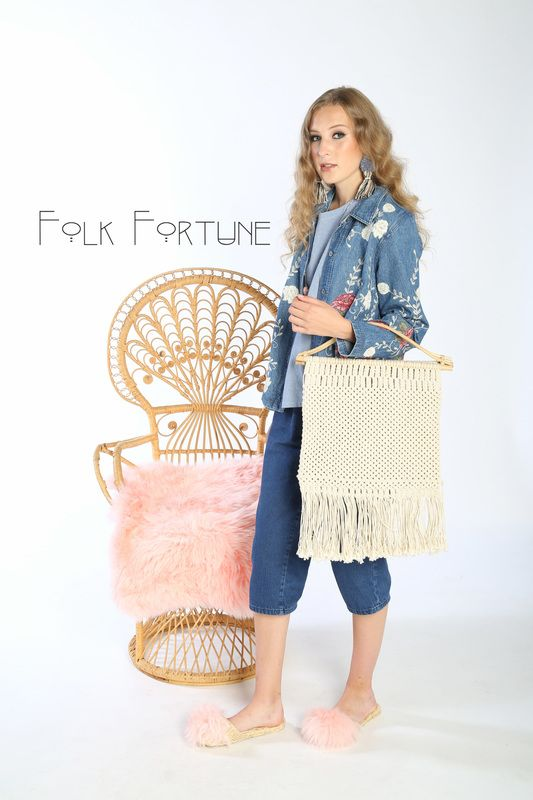 Folk Fortune, pom pom raffia slippers, fur slippers, fur shoes slides, shoes, vintage clothes, modern bohemian, boho bride, velvet, knits, crochet, wall hangings, decor, design ,house ,home