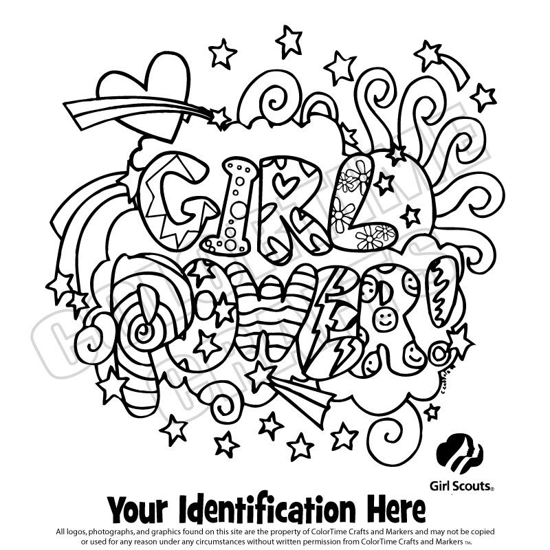 Girl Scout Coloring Sheets Girlscout Coloring Page