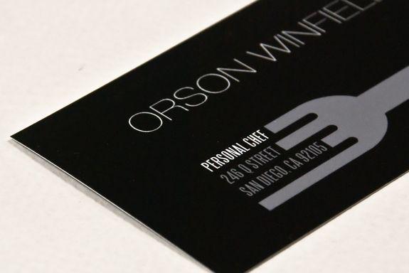 Sleek Personal Chef Business Card Template Innovative Business Cards Cleaning Business Cards Business Card Design