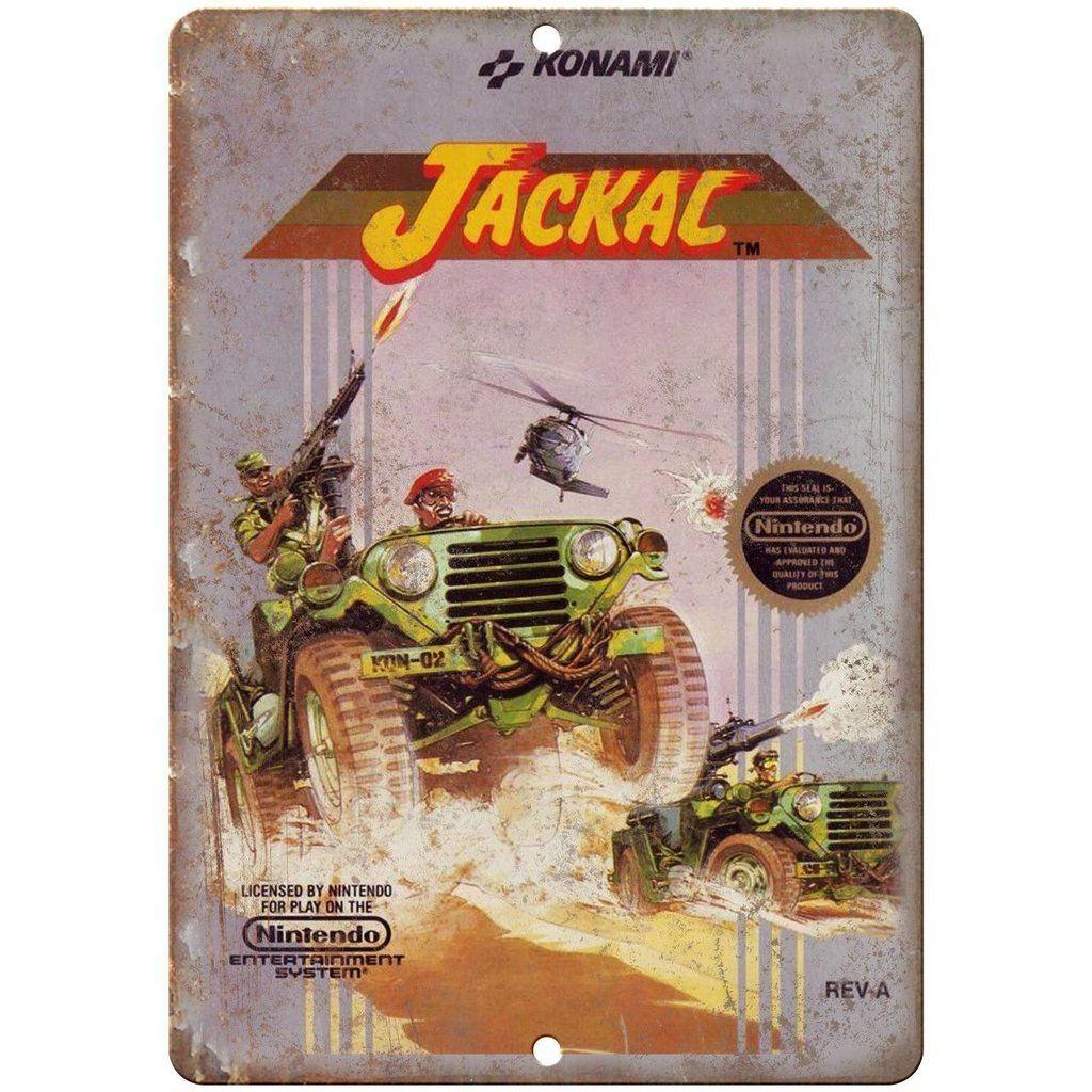 Jackal Nintendo Nes Box Art Konami Gaming 10 Retro Gaming Art Gaming Wall Art Sign Art