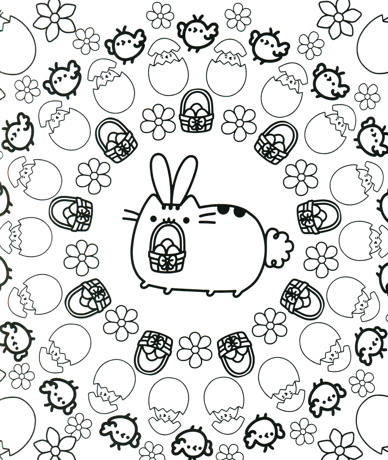 Coloring pages of spring things - Pusheen Coloring Book Pusheen Pusheen The Cat