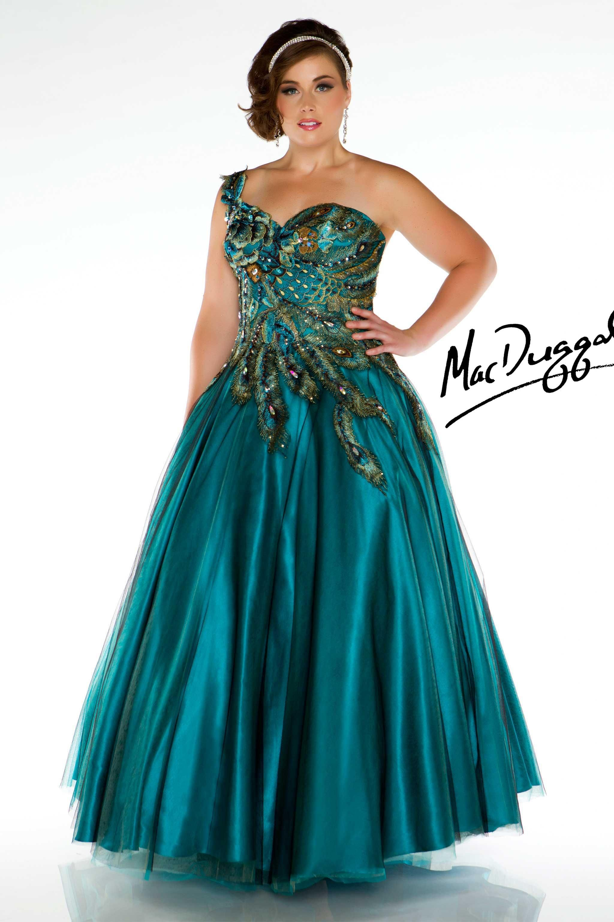 Plus Size Peacock Prom Dress-- LOVE THIS DRESS! Not sure if I\'m a ...