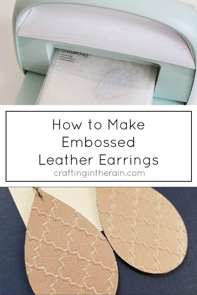 Photo of DIY Embossed Leather Earrings