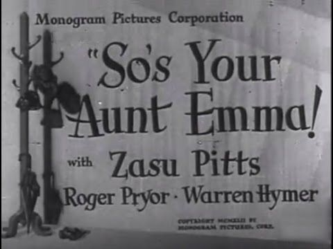 Watch So's Your Aunt Emma! Full-Movie Streaming