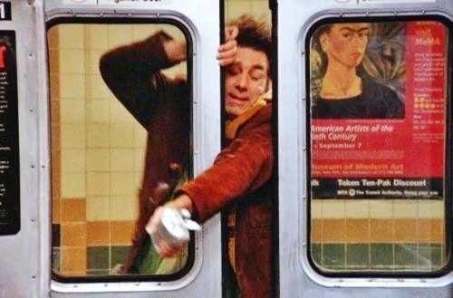 (The Cigar Store Indian) - [Kramer almost gets on the subway but the door closes leaving his arm hanging out with his gyro in his hand.  sc 1 st  Pinterest & The Cigar Store Indian) - [Kramer almost gets on the subway but the ...