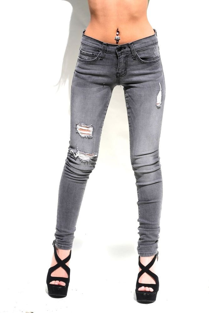 Flying Monkey Jeans L7634 Coated Alter Ego Blocked Jean (Gray
