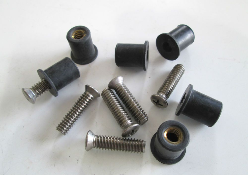 Roof Rack Machine Stainless Steel Screws Rubber Well Nuts 1 4 20 Ebay Stainless Steel Screws Roof Rack Screws