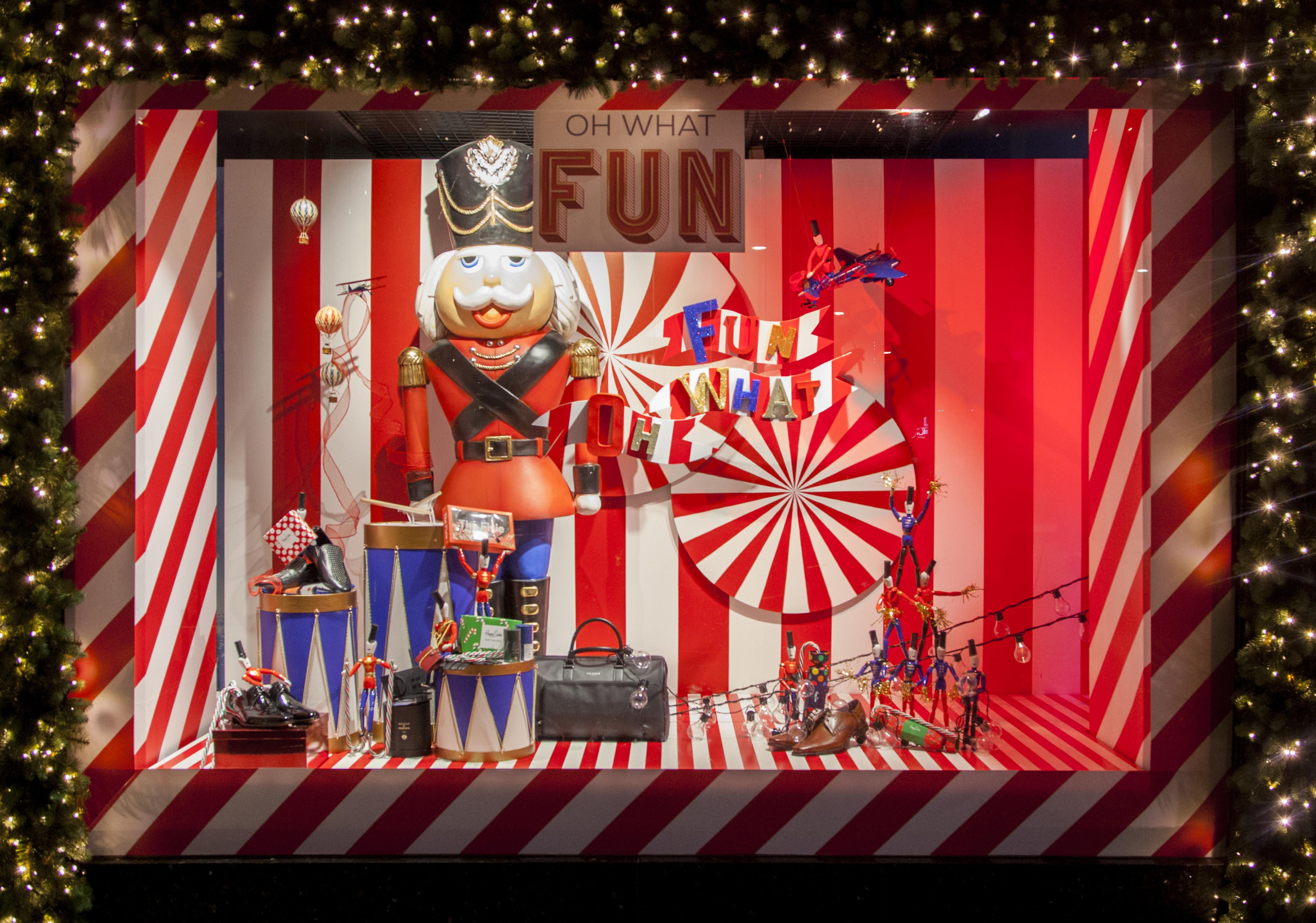 Oh What Fun Christmas Window Display In Store Installations In 2020 Christmas Window Display Christmas Window Christmas Window Display Retail