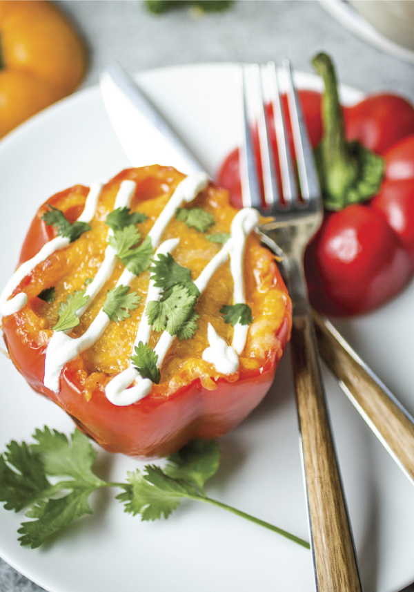 There are so many delicious ways to serve stuffed peppers