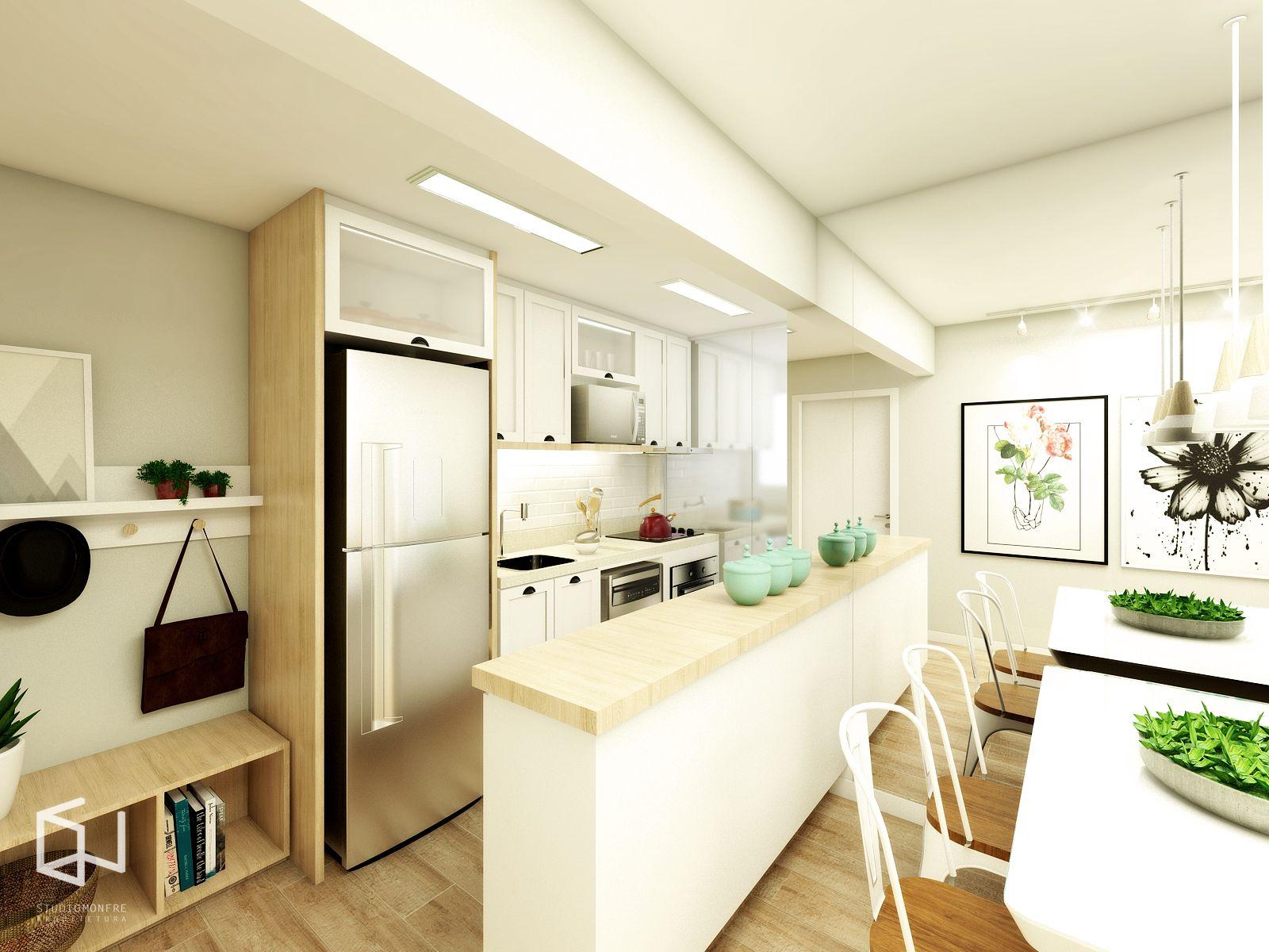Studio Monfr Cozinha Integrada Com A Sala Cozinha Kitchen  -> Abertura Entre Cozinha E Sala