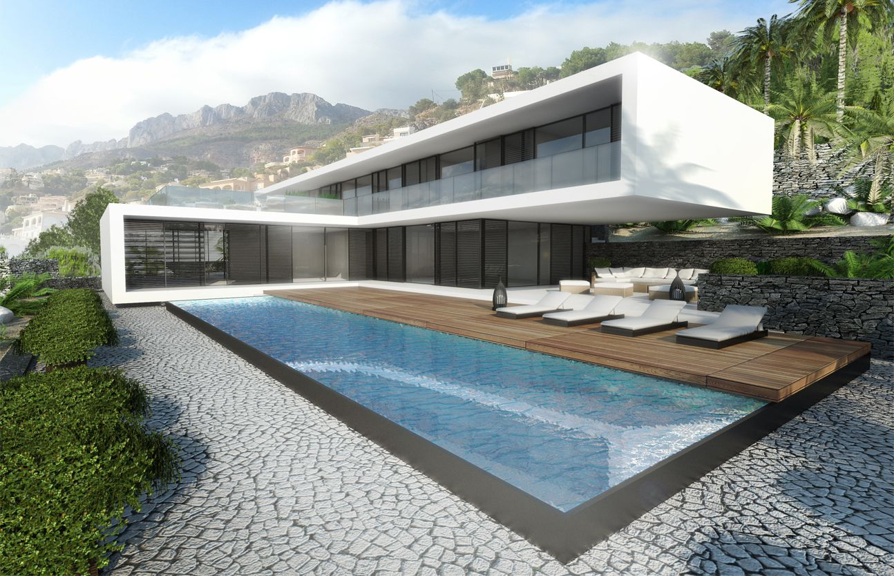 Modern villa in altea by ng architects modern villa design pinterest villas architects Modern villa architecture design