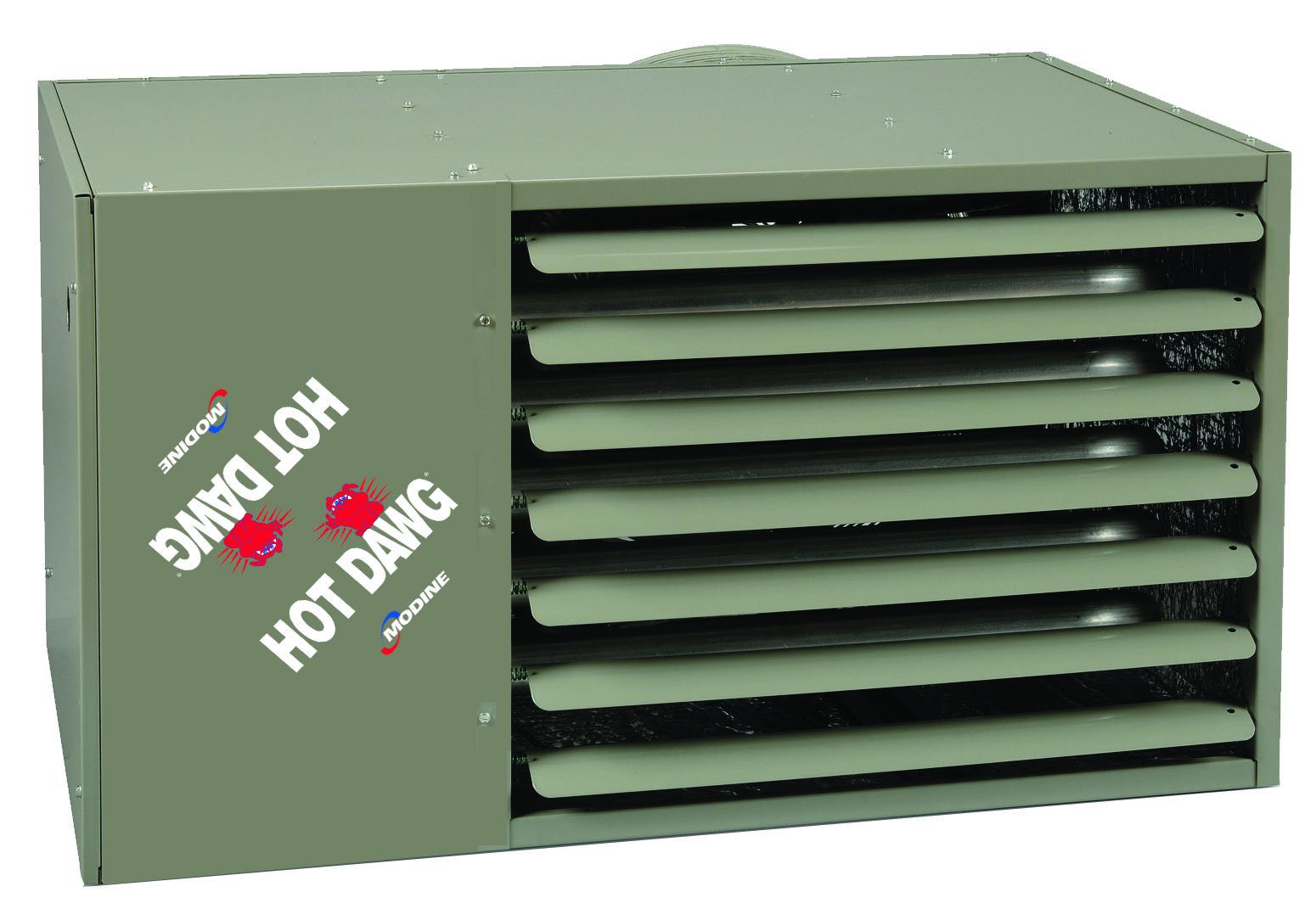 HDS100 New Logo Garage heater, The unit, Hot