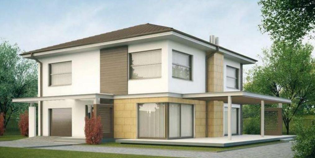 Casa de 190 metros cuadrados casas y fachadas de 1 for Fachadas de casas modernas de 120 metros cuadrados