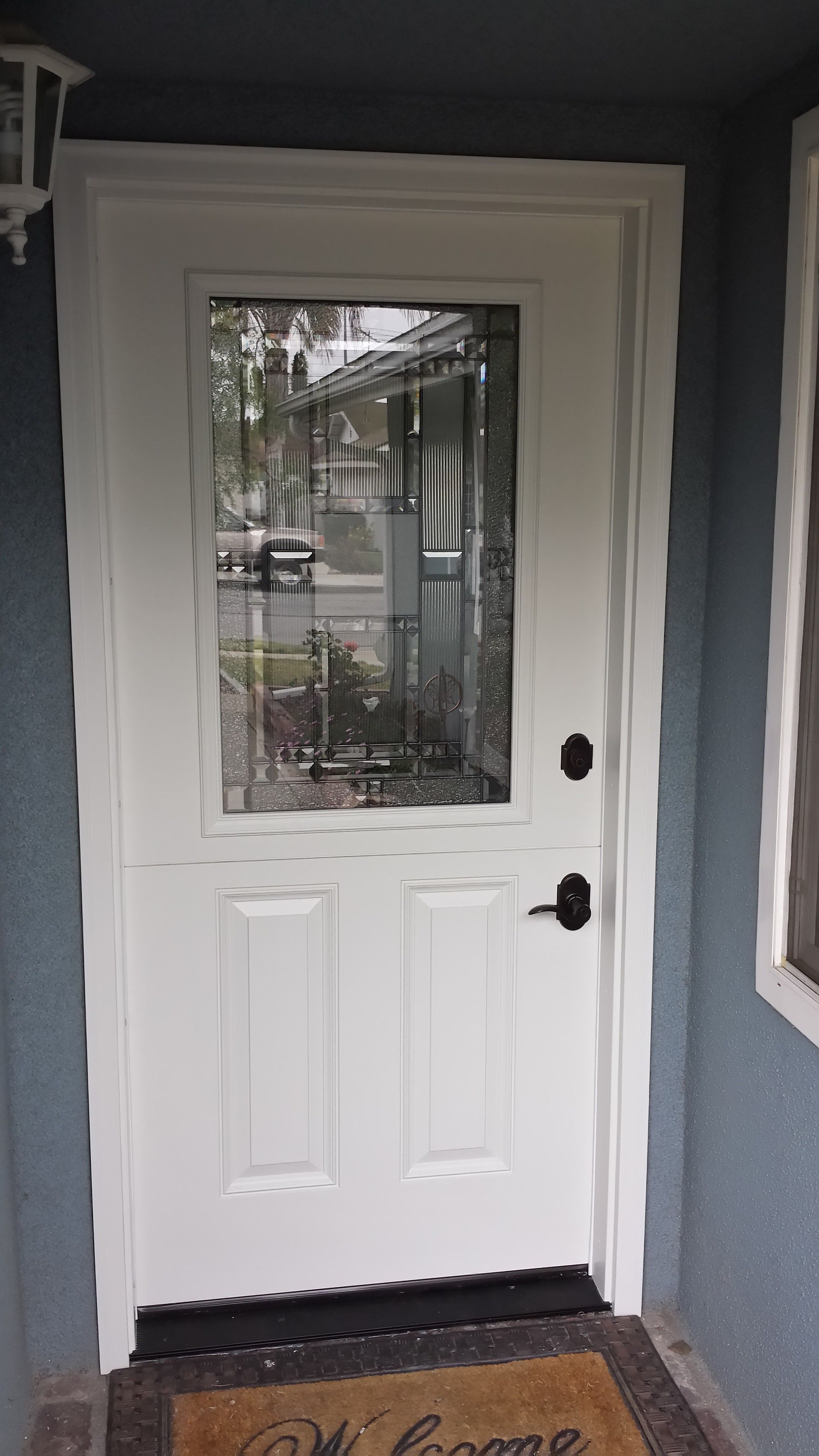 Most Doors With A Middle Rail Can Be Dutch This Is Fiberglass Door From Plastpro
