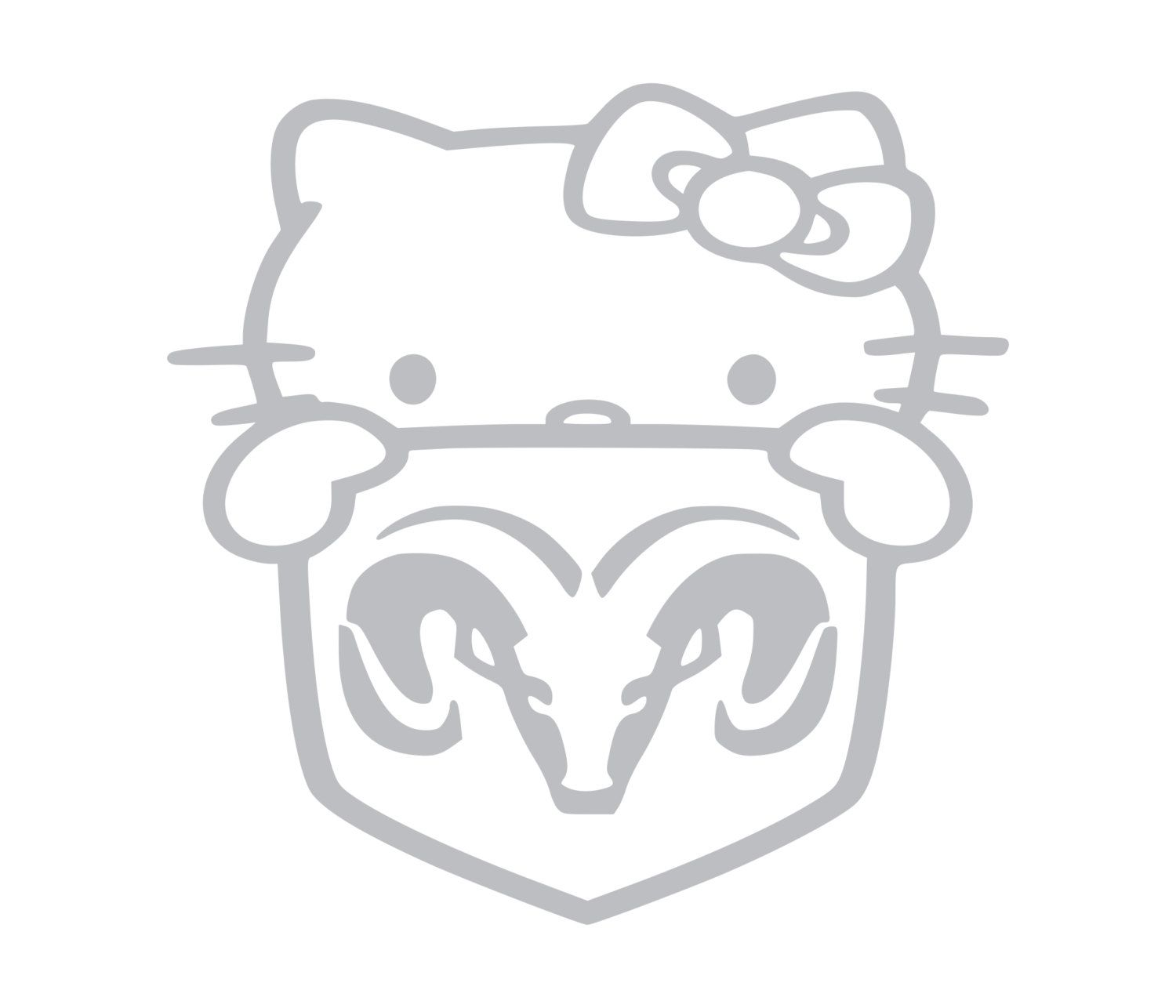 Dodge Ram Kitty Hello Kitty Vinyl DieCut Decals Cars - Hello kitty custom vinyl decals for car