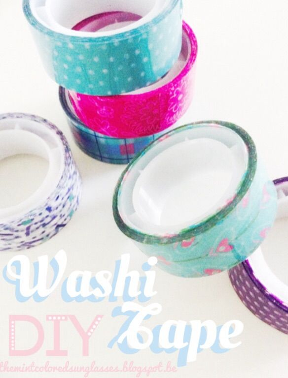 ♥ The Mint Colored Sunglasses: Washi Tape