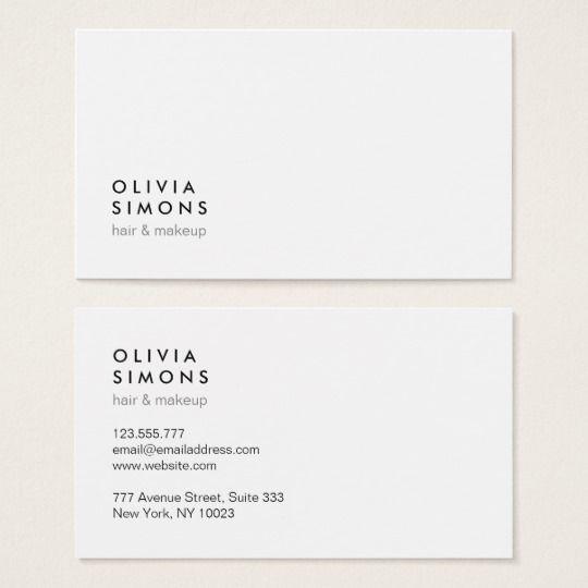 Minimalist Business Cards Business Card Design Business Card