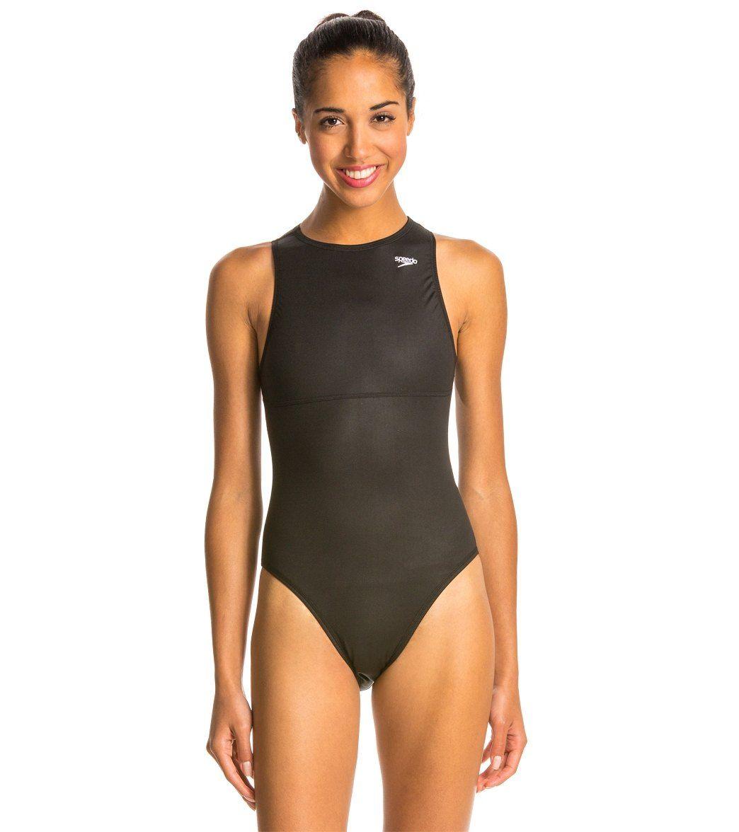 Speedo Women S Endurance Water Polo Suit At Swimoutlet Com The Web S Most Popular Swim Shop Women S One Piece Swimsuits Women Swimsuits Swimsuits